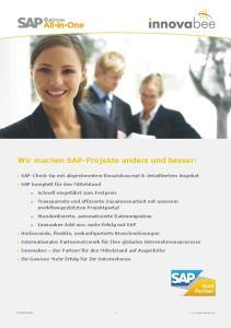 Wir machen SAP-Projekte anders und besser: