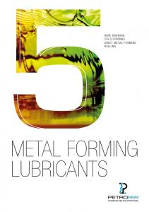 WIRE DRAWING COLD FORMING SHEET METAL FORMING ROLLING METAL FORMING LUBRICANTS