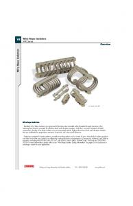 Wire Rope Isolators. WR Series. Wire Rope Isolators. Overview. Wire Rope Isolators