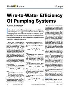 Wire-to-Water Efficiency Of Pumping Systems