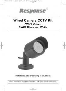Wired Camera CCTV Kit