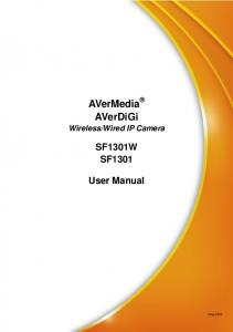 Wired IP Camera SF1301W SF1301 User Manual
