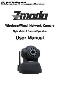 Wired Network Camera. Night Vision & Remote Operation
