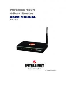 Wireless 150N 4-Port Router USER MANUAL