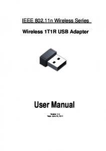Wireless 1T1R USB Adapter User Manual