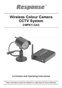 Wireless Colour Camera CCTV System
