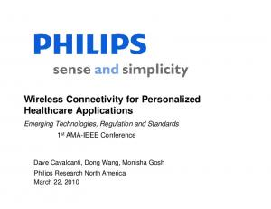 Wireless Connectivity for Personalized Healthcare Applications