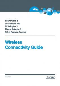 Wireless Connectivity Guide