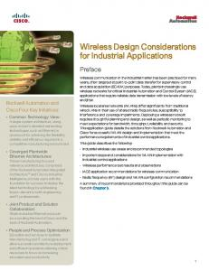 Wireless Design Considerations for Industrial Applications
