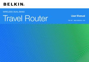 WIRELESS DUAL-BAND. Travel Router. User Manual. F9K Rev. A00