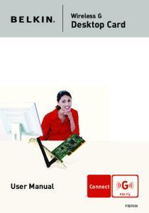 Wireless G. Desktop Card. User Manual F5D7000