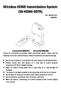 Wireless HDMI transmission System (W-HDMI-50TR)