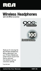 Wireless Headphones. with 900 MHz transmitter