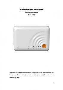 Wireless Intelligent Alarm System