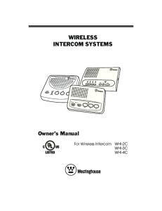 WIRELESS INTERCOM SYSTEMS
