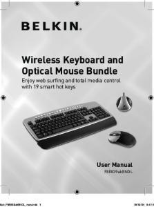 Wireless Keyboard and Optical Mouse Bundle