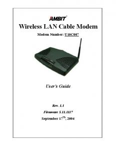 Wireless LAN Cable Modem