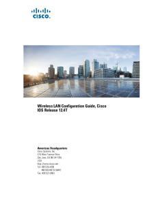 Wireless LAN Configuration Guide, Cisco IOS Release 12.4T