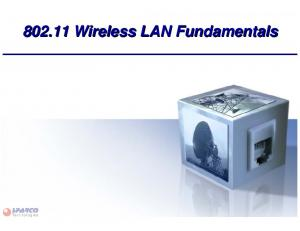 Wireless LAN Fundamentals