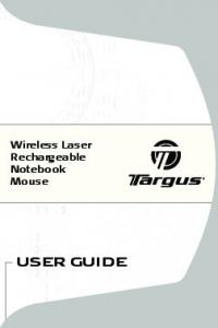 Wireless Laser Rechargeable Notebook Mouse USER GUIDE
