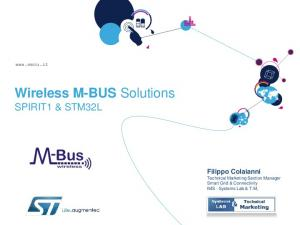 Wireless M-BUS Solutions SPIRIT1 & STM32L
