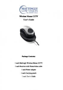 Wireless Mouse CCTV User s Guide