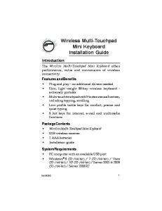 Wireless Multi-Touchpad Mini Keyboard Installation Guide