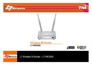 Wireless N Router L7-NR2000. L7 Wireless N Router L7-NR2000