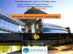 Wireless Passive Sensor Technology
