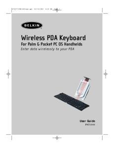 Wireless PDA Keyboard