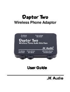 Wireless Phone Adaptor User Guide