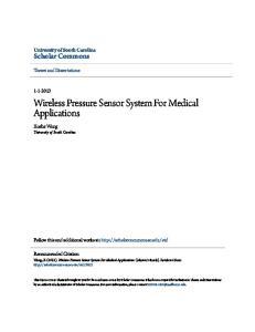 Wireless Pressure Sensor System For Medical Applications