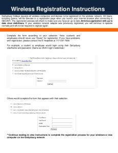 Wireless Registration Instructions