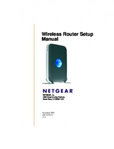 Wireless Router Setup Manual