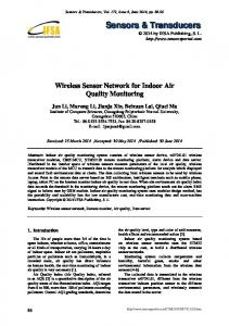 Wireless Sensor Network for Indoor Air Quality Monitoring