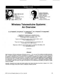 Wireless Telemedicine Systems: An Overview