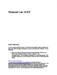 Wireshark Lab: DHCP. DHCP Experiment
