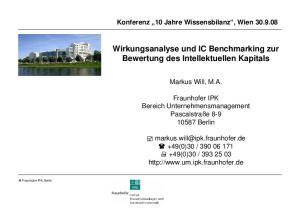 Wirkungsanalyse und IC Benchmarking zur Bewertung des Intellektuellen Kapitals