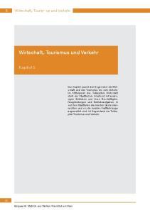 Wirtschaft, Tourismus und Verkehr