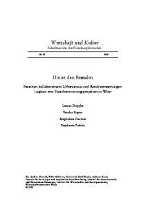 Wirtschaft und Kultur Schriftenreihe des Forschungsbereiches