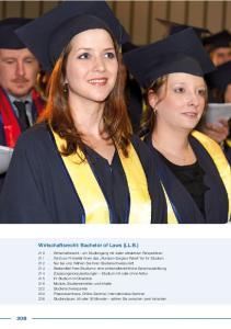 Wirtschaftsrecht. Wirtschaftsrecht: Bachelor of Laws (LL.B.) Bachelor of Laws (LL.B.)
