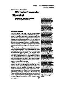 Wirtschaftswunder Slowakei