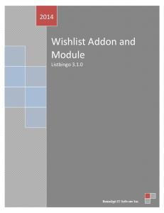 Wishlist Addon and Module Listbingo 3.1.0