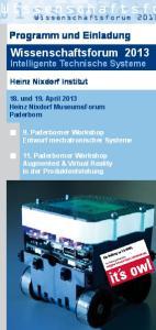 Wissenschaftsforum Programm und Einladung. Wissenschaftsforum Intelligente Technische Systeme