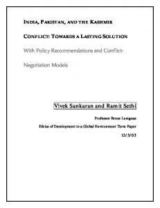 With Policy Recommendations and Conflict-