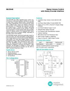 with Rotary Encoder Interface