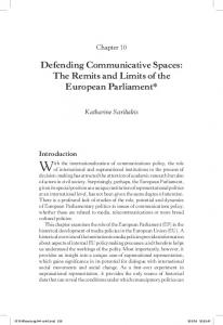 With the internationalization of communications policy, the role