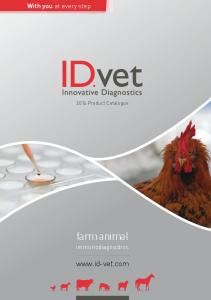 With you at every step Product Catalogue. farm animal. immunodiagnostics