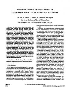 WITHIN DIE THERMAL GRADIENT IMPACT ON CLOCK-SKEW: A NEW TYPE OF DELAY-FAULT MECHANISM