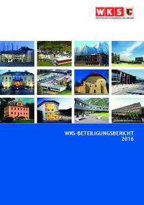 WKS Beteiligungsbericht 2016